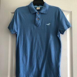 EUC Men's Hollister Blue Polo Size S